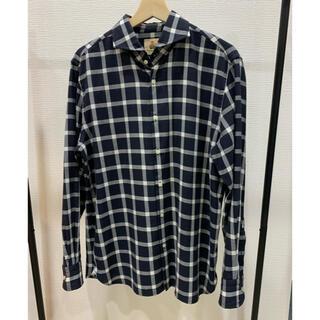 ギローバー(GUY ROVER)の未使用 定価2.5万 ギローバー ホリゾンタルカラー チェックシャツ L (シャツ)