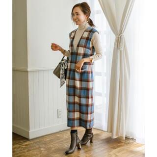 Drawer - bluelea シャギーチェックジャンパースカート Sサイズ
