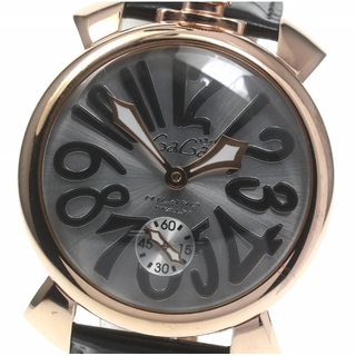 ガガミラノ(GaGa MILANO)のガガミラノ マヌアーレ48  5011.06 手巻き メンズ 【中古】(腕時計(アナログ))