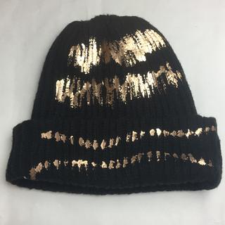 CA4LA - CA4LA ニット帽  キャップ 黑 ウール混 厚手