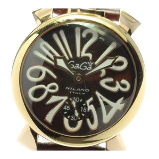 ガガミラノ(GaGa MILANO)のガガミラノ マヌアーレ48 スモールセコンド 5011.01 メンズ 【中古】(腕時計(アナログ))