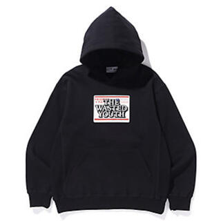 Supreme - BLACK EYE PATCH × WASTED YOUTH フーディ 黒/L