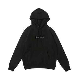 シュプリーム スワロフスキー ボックスロゴ パーカー XL ブラック(パーカー)
