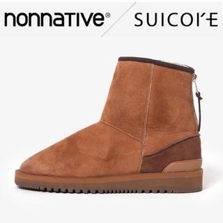 スイコック(suicoke)の新品 nonnative × スイコック ボアブーツ 28cm ベージュ(ブーツ)