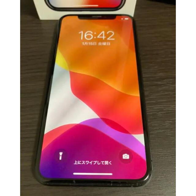 iPhone(アイフォーン)のiPhone X Space Gray 64 GB SIMフリー スマホ/家電/カメラのスマートフォン/携帯電話(スマートフォン本体)の商品写真