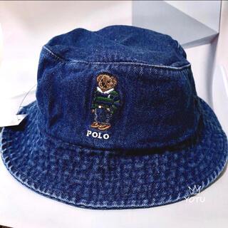 大人気】ポロラルフローレン ポロベアー バケット ハットデニム メンズハット帽子