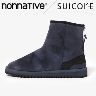 スイコック(suicoke)の新品 nonnative × スイコック ボアブーツ 27cm ネイビー(ブーツ)
