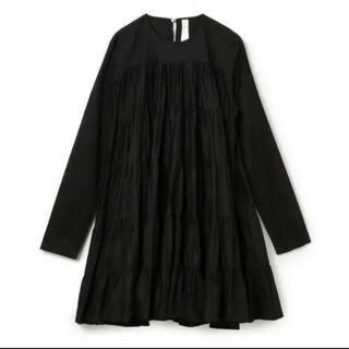 ユナイテッドアローズ(UNITED ARROWS)のMERLETTE SOLIMAN DRESS マーレット ワンピース ブラック(ひざ丈ワンピース)
