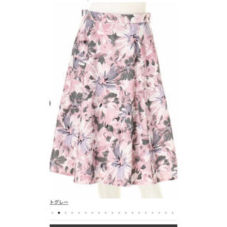 JUSGLITTY - JUSGLITTY 花柄スカート