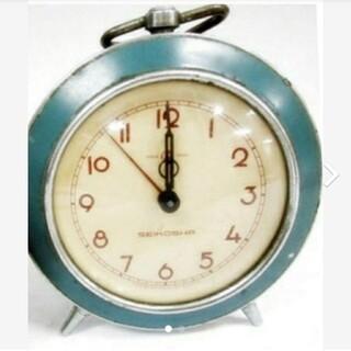 セイコー(SEIKO)の精工舎 セイコー 目覚まし時計 水色 ビンテージ 置時計 アンティーク 置き時計(置時計)