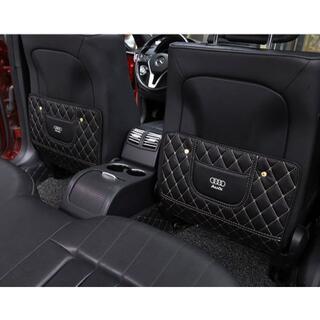 アウディAudi‐ブラック キックガードシート 2枚セット(車内アクセサリ)