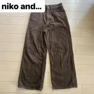 ニコアンド(niko and...)のniko and… コーデュロイ ワイドパンツ(カジュアルパンツ)