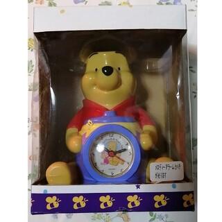 ディズニー(Disney)のプーさん ディズニー 置き時計 時計 目覚まし時計 アラーム(置時計)
