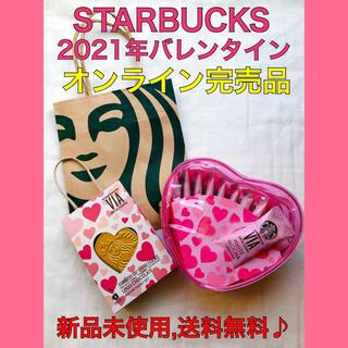 Starbucks Coffee - 【完売品】スターバックス 2021 バレンタイン ポーチ チョコ ヴィア VIA