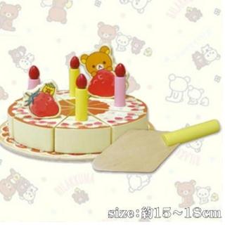サンエックス - リラックマ キイロイトリ いちごフェアストロベリーパーティー 木製ケーキおもちゃ