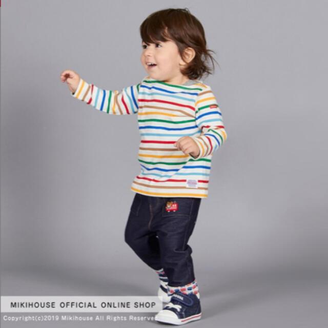 mikihouse(ミキハウス)の*新品未使用* ミキハウス ボーダー長袖Tシャツ 100 キッズ/ベビー/マタニティのキッズ服男の子用(90cm~)(Tシャツ/カットソー)の商品写真