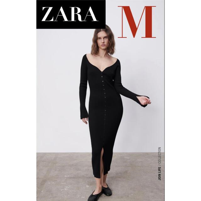 ZARA(ザラ)の【新品/未着用】 ZARA ハート型ネックラインワンピース タイトワンピース レディースのワンピース(ロングワンピース/マキシワンピース)の商品写真