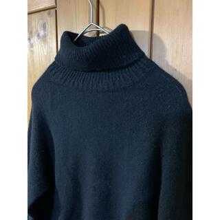 MARGARET HOWELL - マーガレットハウエル 黒 タートルネックセーター wool