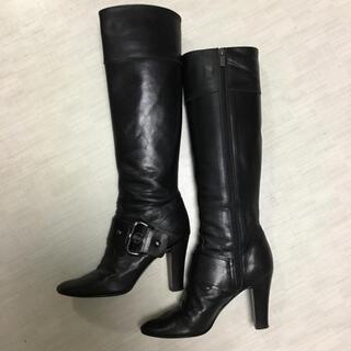ダイアナ(DIANA)のダイアナ ロングブーツ 黒 ブラック 22.5cm ブーツ 35 ジョッキー(ブーツ)