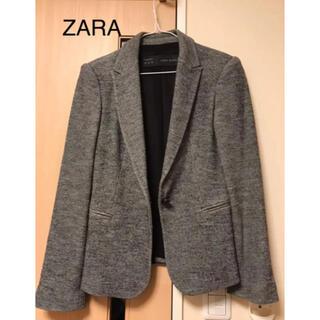 ZARA - ZARA BASIC テーラードジャケット グレー