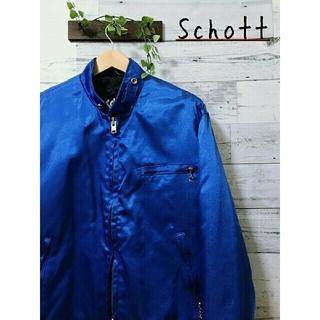 ショット(schott)の【美品】Schott  シングルライダーズ  ナイロンジャケット  メタリック(ライダースジャケット)