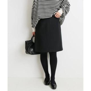IENA - メルトン台形スカート  イエナ 34 ブラック 黒 スカート