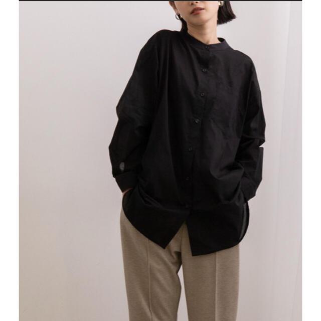 Adam et Rope'(アダムエロぺ)のAdam et Rope' Le Magasin バンドカラーシャツ レディースのトップス(シャツ/ブラウス(長袖/七分))の商品写真