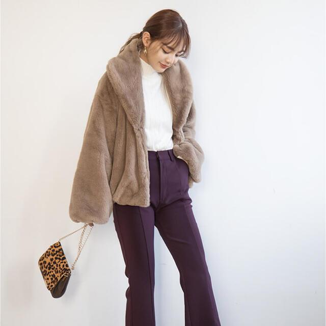 GRL(グレイル)のGRL ファーショールコート レディースのジャケット/アウター(毛皮/ファーコート)の商品写真