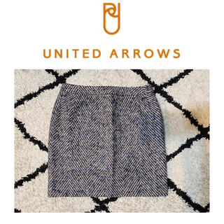 ユナイテッドアローズ(UNITED ARROWS)のUNITED ARROWS レディース ミニスカート 柄 ツイード 台形(ミニスカート)
