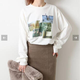 スピックアンドスパン(Spick and Span)の【+81 BRANCA】× 51/2 フォトロングスリーブTシャツ(Tシャツ(長袖/七分))