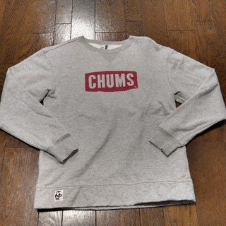 CHUMS - CHUMS チャムス スウェット パーカー ボックスロゴ グレー M