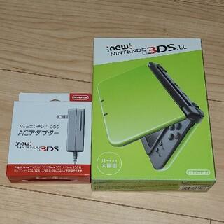 ニンテンドー3DS - 【動作確認済】NEW 3DS LL ライム×ブラック
