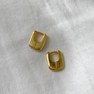 DEUXIEME CLASSE - Silver925,18kgp_ Square hoop earrings