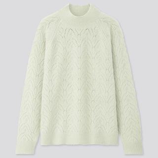 UNIQLO - 【大セール!売切希望】ライトスフレヤーンポインテールクルーネックセーター(長袖)