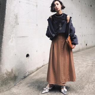 アメリヴィンテージ(Ameri VINTAGE)のAmeri VINTAGE ステッチスカートS(ロングスカート)