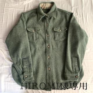 ウールリッチ(WOOLRICH)の80sアメリカ製REIグリーンウールシャツ(シャツ)