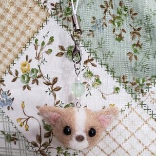コーギーのこーちゃん♡ストラップ♪ ハンドメイド 羊毛フェルト 犬 わんちゃん(キーホルダー/ストラップ)