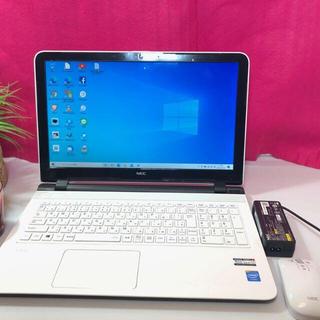 ノートパソコン 本体 Windows10 薄型PC NEC2014年モデル