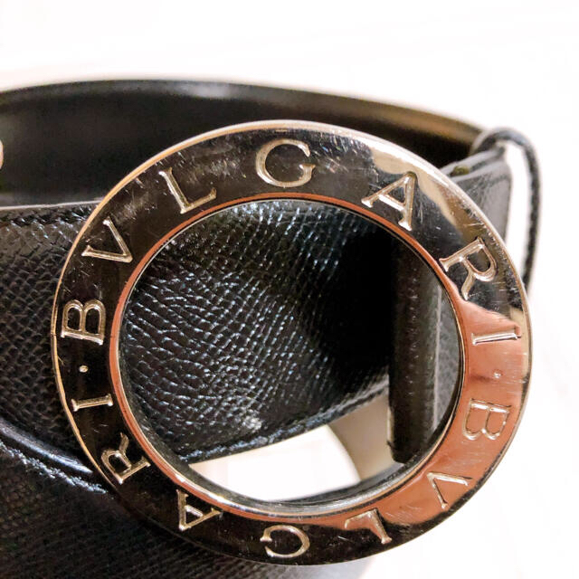 BVLGARI(ブルガリ)の【期間限定値下げ!】美品 BVLGARI ブルガリ ベルト ブラック メンズのファッション小物(ベルト)の商品写真
