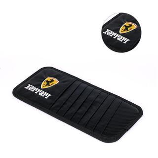 Ferrari-サンバイザー収納 ブラックカーボン調 バージョンアップモデル(車内アクセサリ)