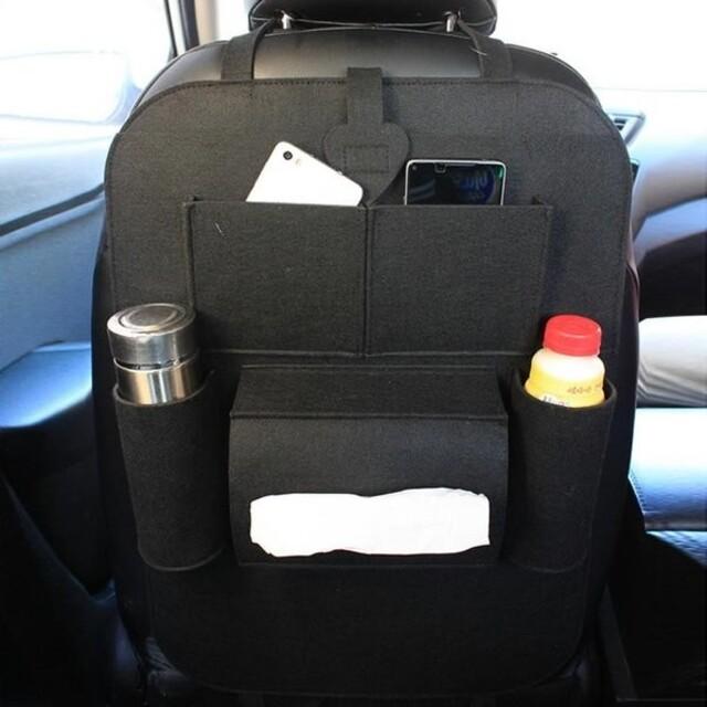 1/23【ブラック1つ】バックシートポケット 後部座席 ティッシュ カーアクセサ 自動車/バイクの自動車(車内アクセサリ)の商品写真
