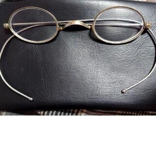 ヴィンテージ 一山眼鏡 シルバー アンティーク メガネ