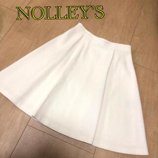 ノーリーズ(NOLLEY'S)の【美品】NOLLEY'S ノーリーズ スカート ホワイト(ひざ丈スカート)