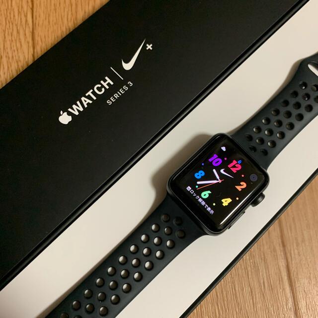 Apple(アップル)のApple watch series3 38mm NIKE GPS メンズの時計(腕時計(デジタル))の商品写真