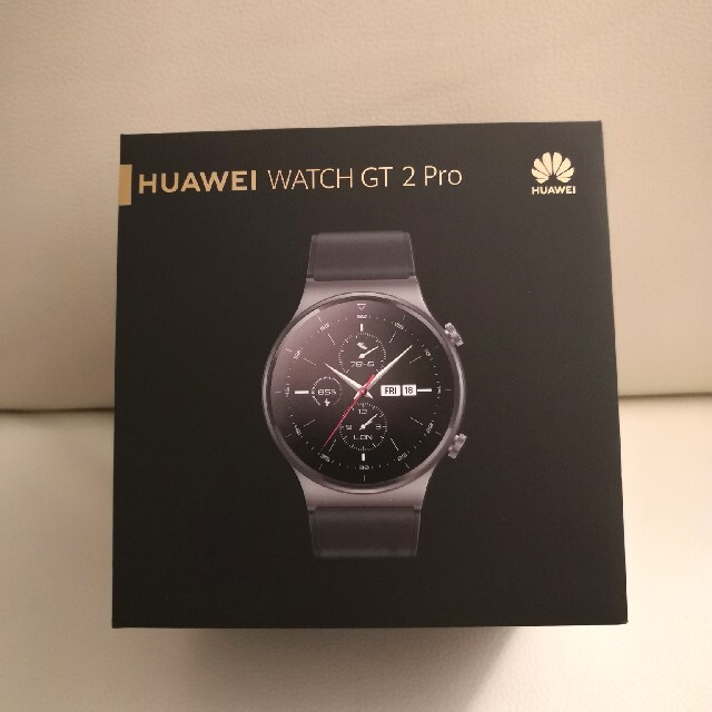 HUAWEI(ファーウェイ)のHUAWEI Watch GT2 Pro/NightBlack/スマートウォッチ メンズの時計(腕時計(デジタル))の商品写真