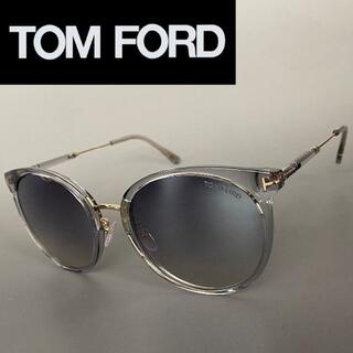 TOM FORD - トムフォード グレー クリスタル サングラス レディース キャットアイ スモーク