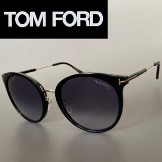 TOM FORD - トムフォード ブラック サングラス レディース キャットアイ グレー ゴールド