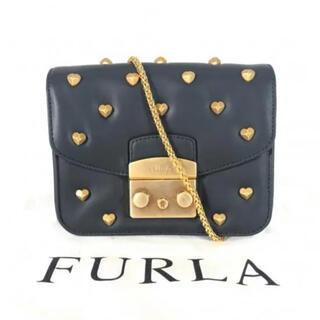 Furla - 未使用に近い FURLA ハートスタッズチェーンバッグ  メトロポリス