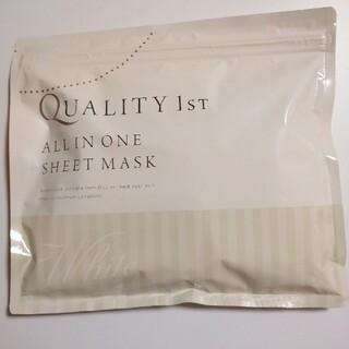 クオリティファースト(QUALITY FIRST)のクオリティファースト オールインワンシートマスク ホワイト 30枚(パック/フェイスマスク)