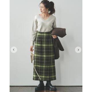Mila Owen - MilaOwen チェック柄サイドベンツロングスカート サイズ0 新品未使用